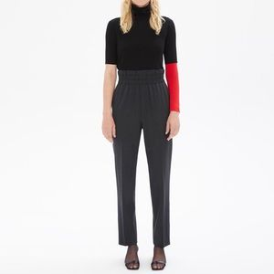 Helmut Lang Wool High Waist Pull On Trousers